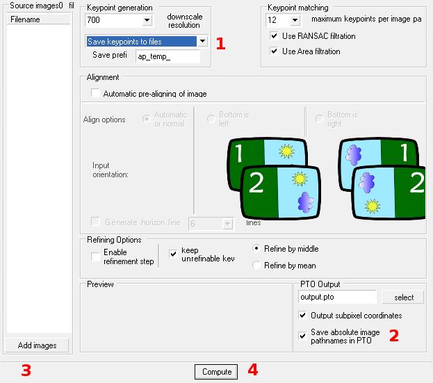 Skärmdump från Autopano